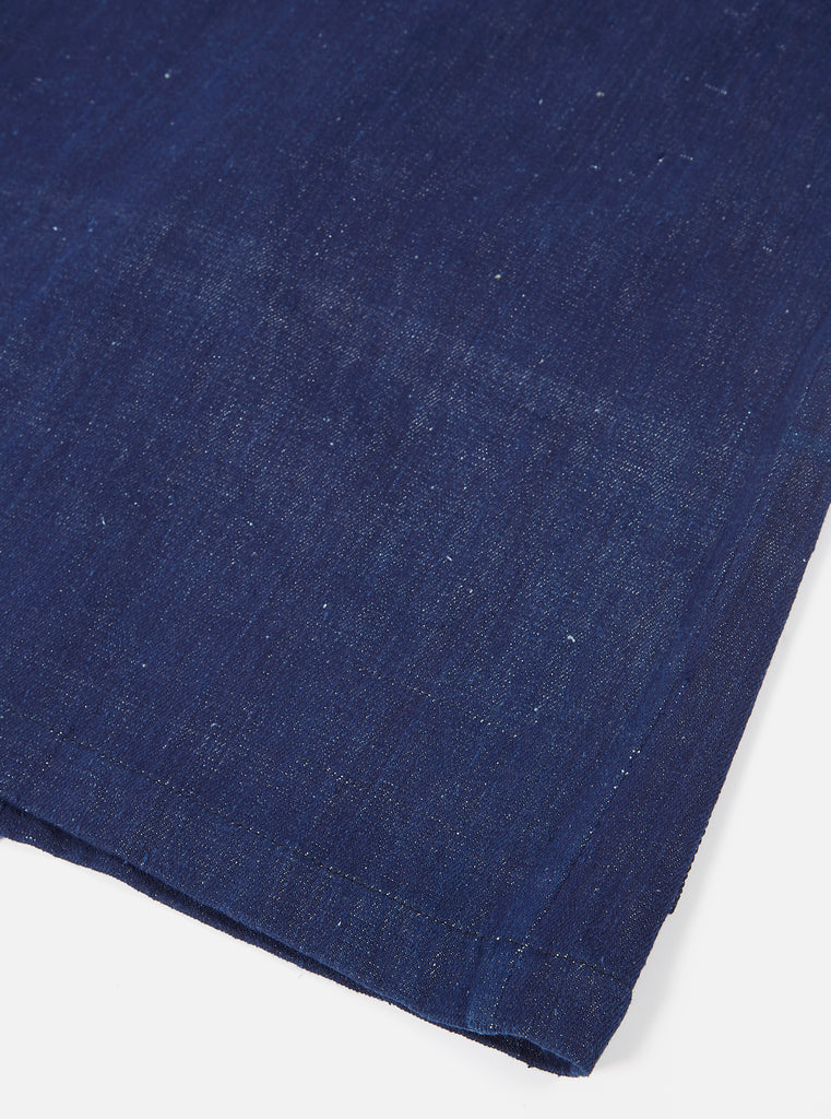 Universal Works Tie Front Jacket in Indigo Handloom Denim