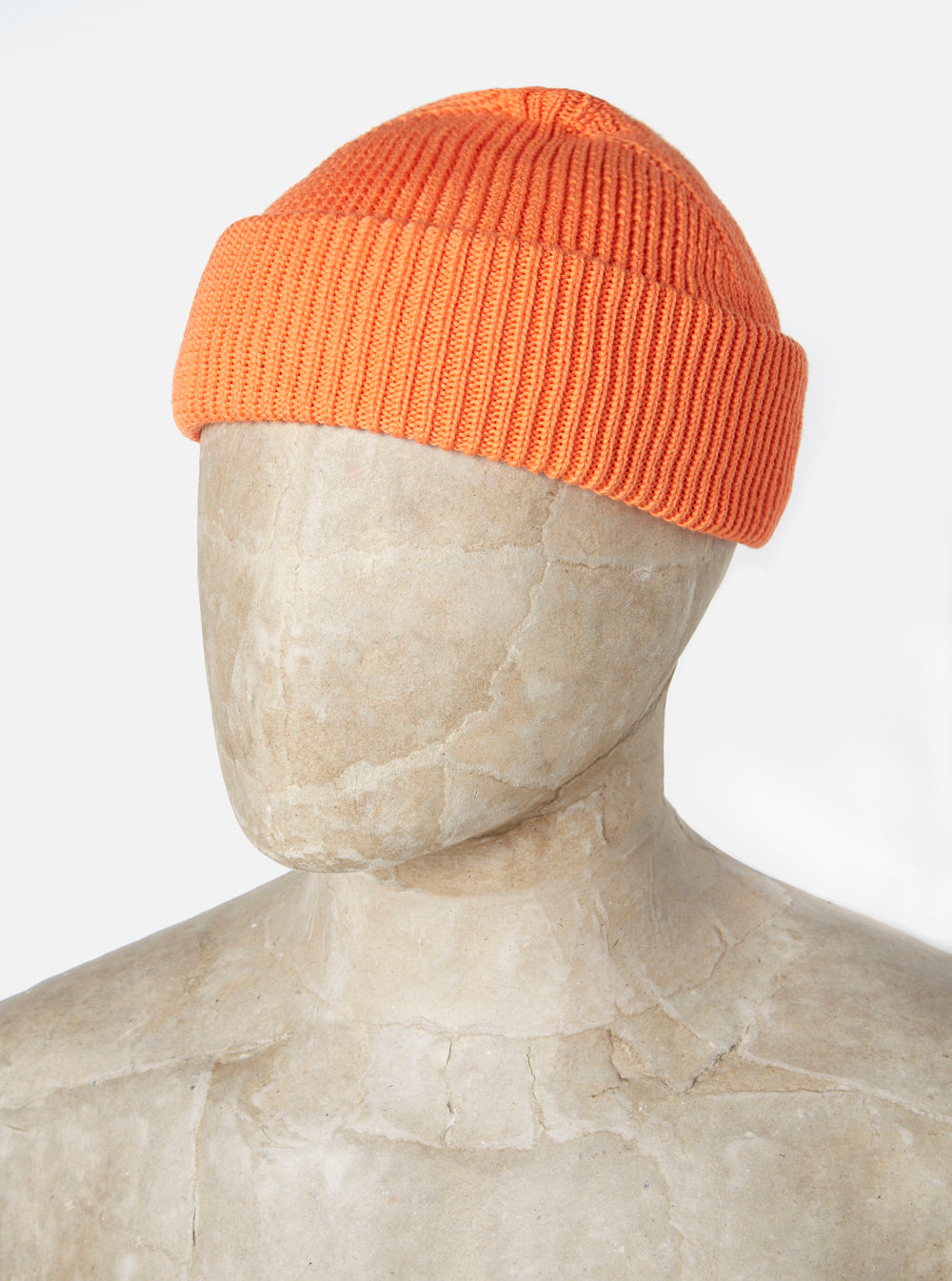 Universal Works Watch Cap in Orange Cotton Knit