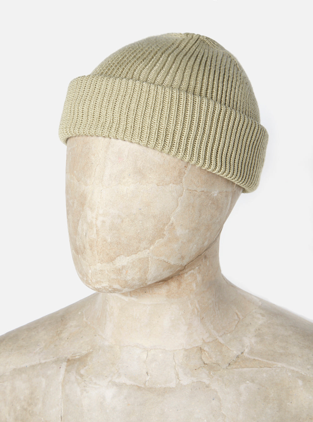 Universal Works Watch Cap in Tea Cotton Knit