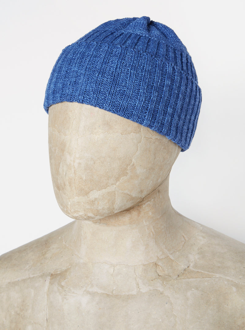 Universal Works Rib Hat in Blueprint Linen/Cotton