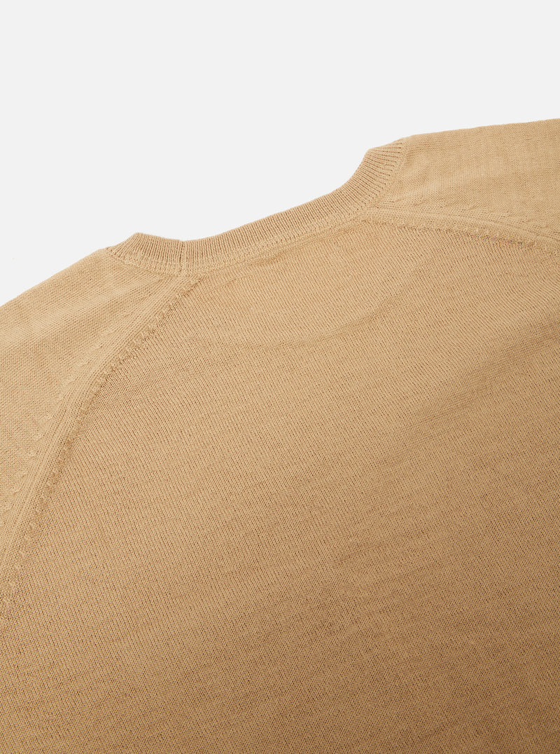 Universal Works Loose Pocket Crew in Sand Merino Knit