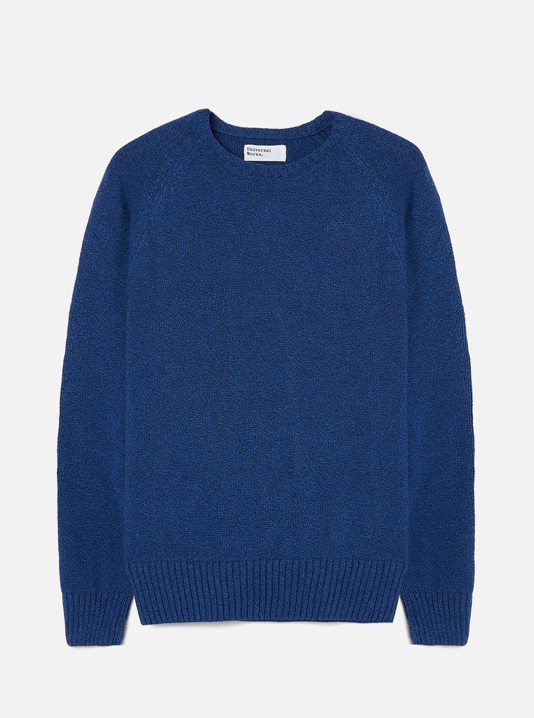 Universal Works Light Crew in Blue Eco Cotton Knit