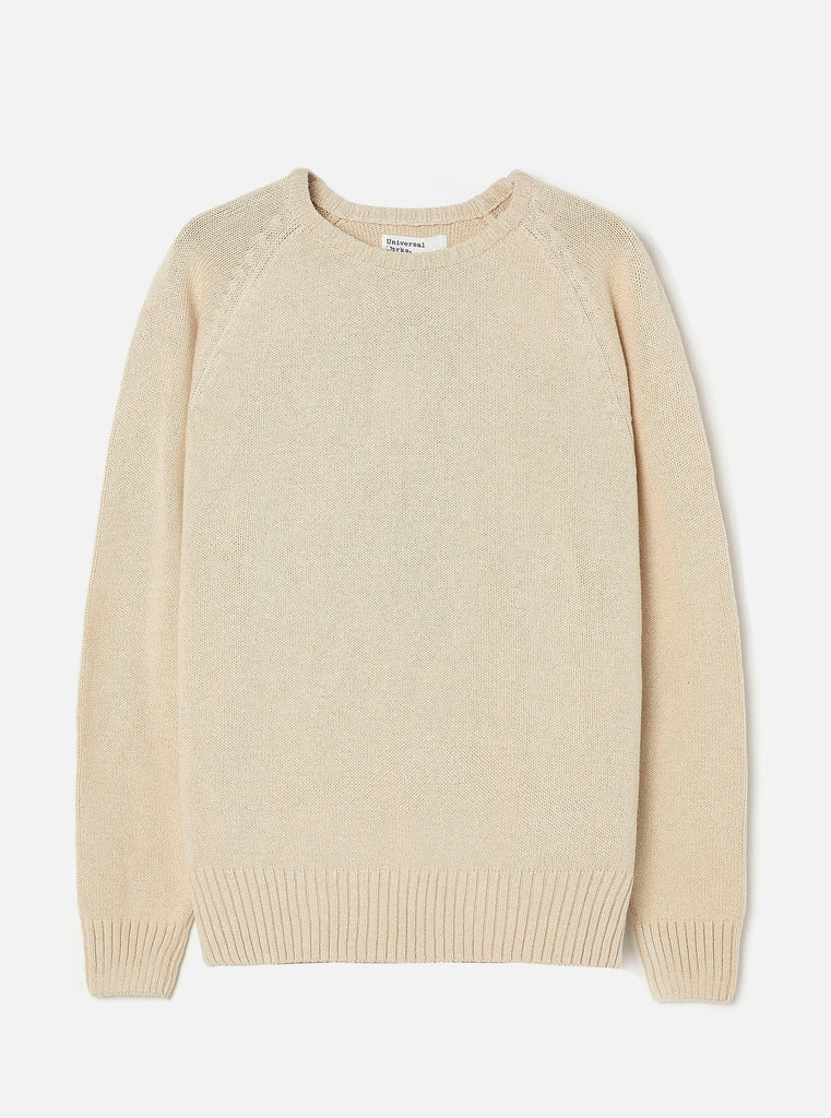Universal Works Light Crew in Sand Eco Cotton Knit