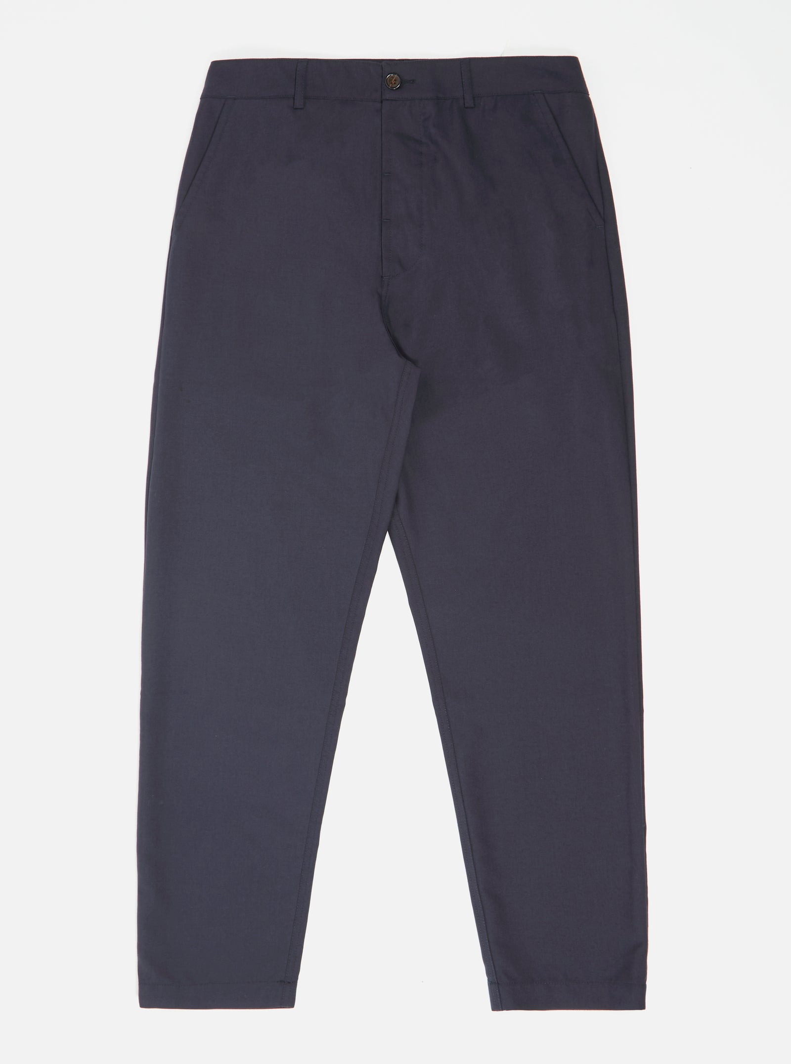 Universal Works Military Chino in Navy Tropical Suiting