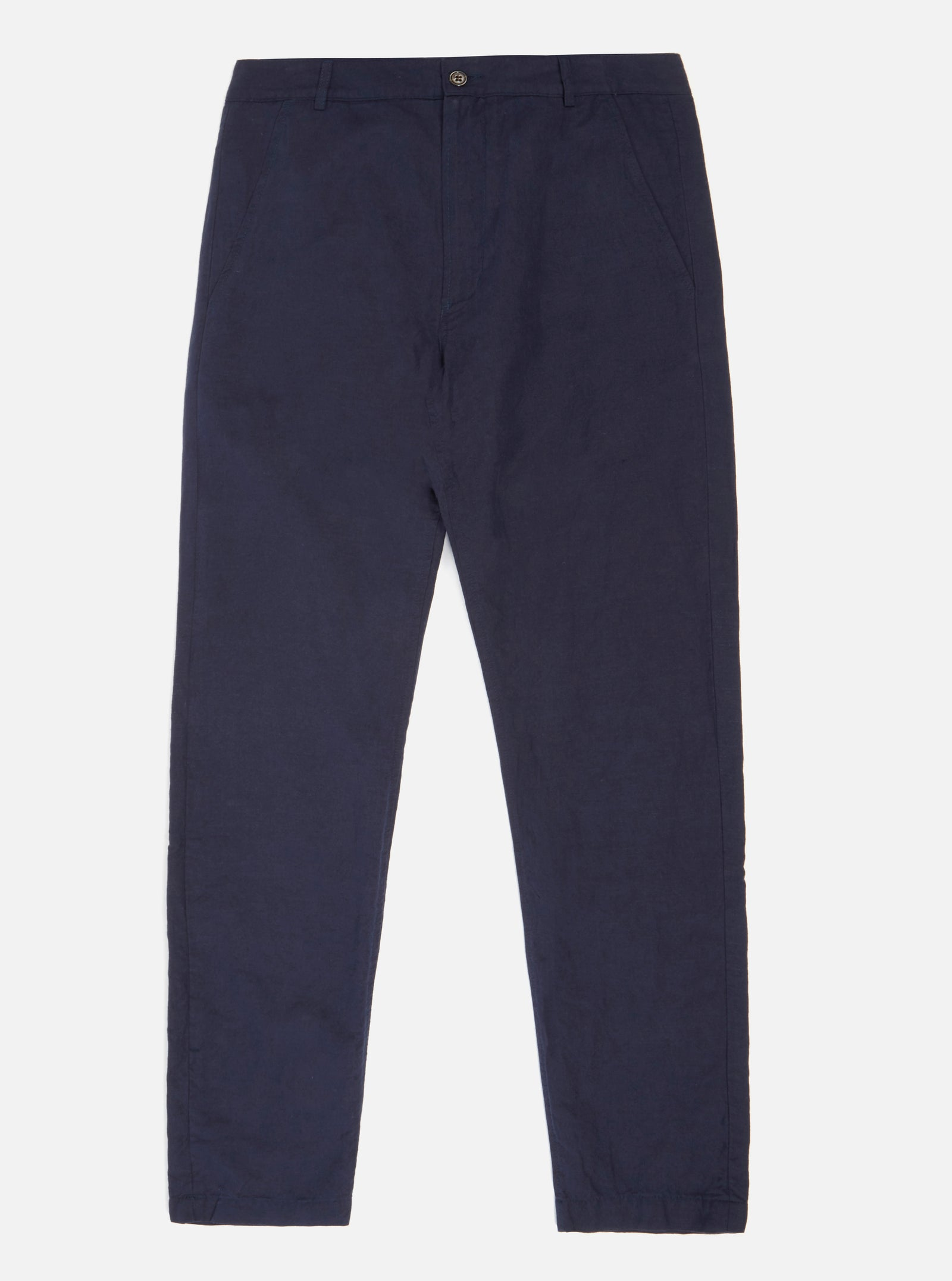Universal Works Aston Pant in Navy Cotton Linen