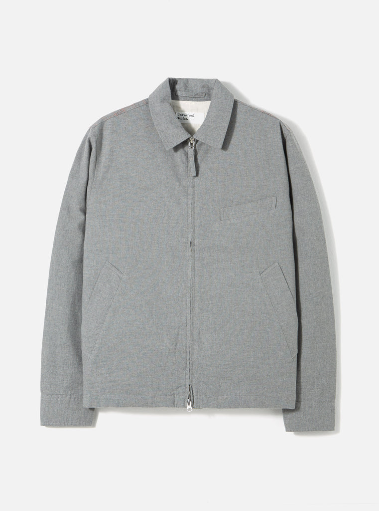 Universal Works Windcheater in Grey Cotton Mixed Suiting