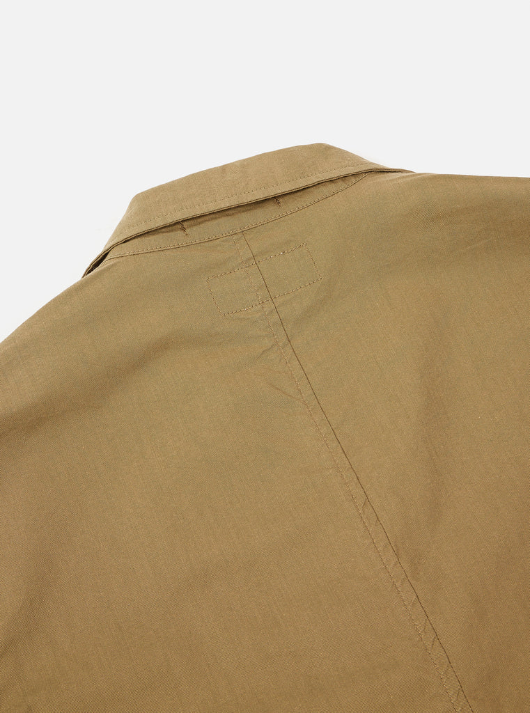 Universal Works Two Button Jacket in Khaki Cotton Nylon Suiting