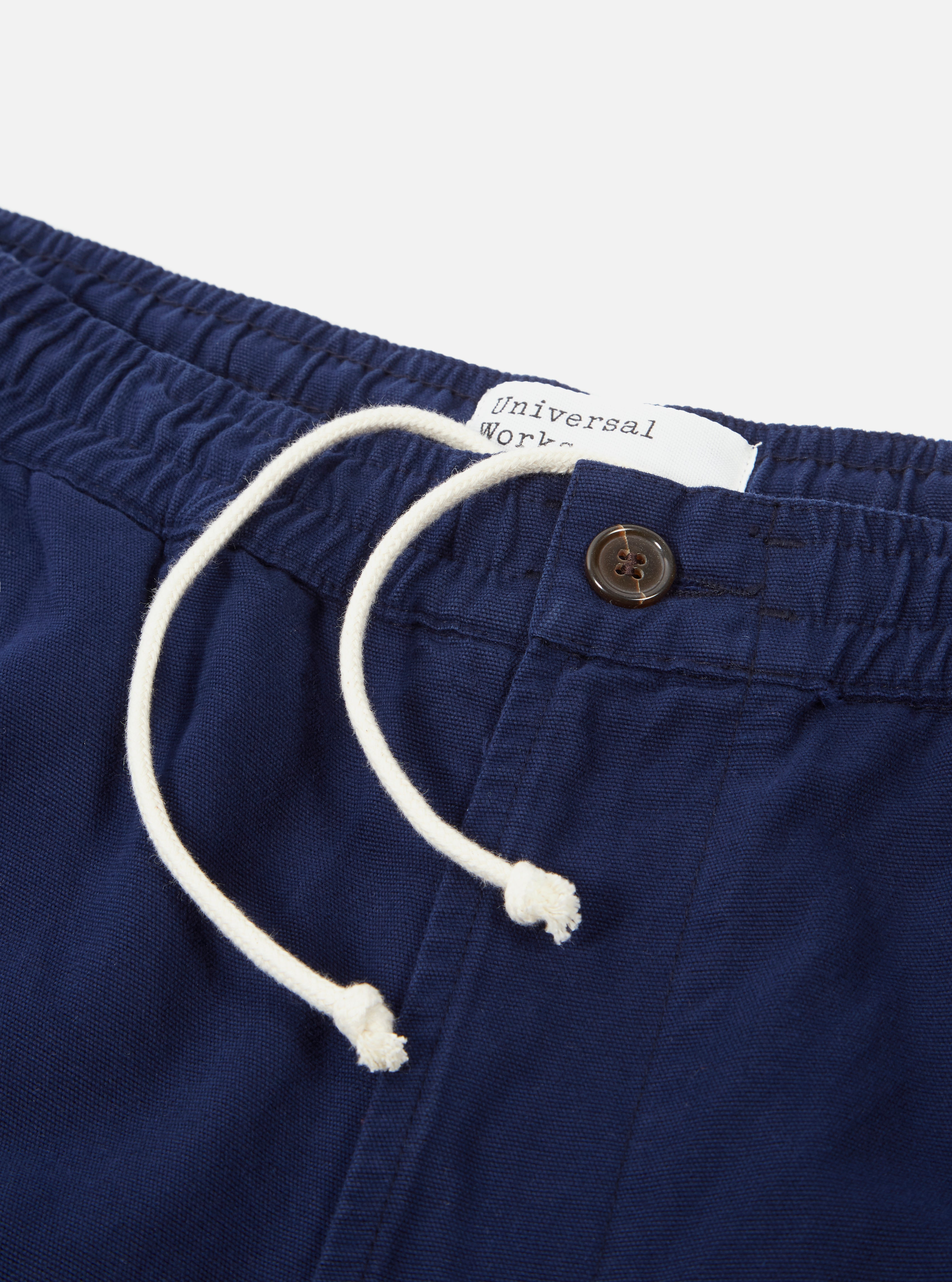 Universal Works Track Trouser in Navy Canvas