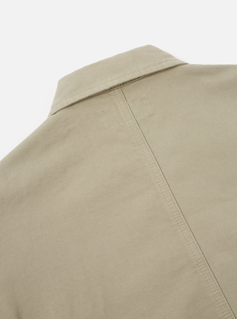 Universal Works Bakers Jacket in Laurel Canvas