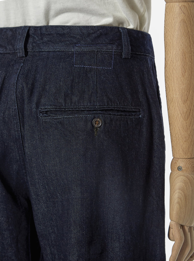 Universal Works Military Chino in Indigo Selvedge PT Denim