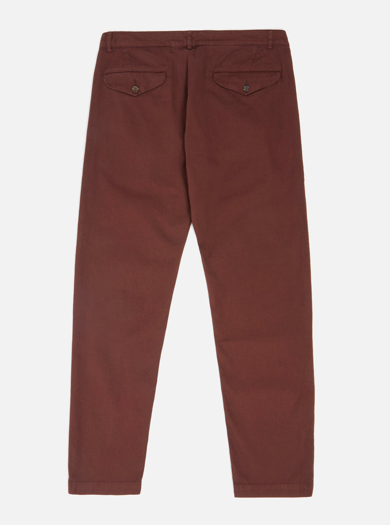 Universal Works Aston Pant in Raisin Fine Weave Cotton