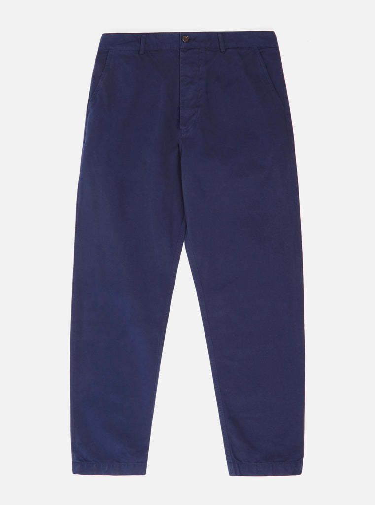 Universal Works Military Chino in Navy Canvas