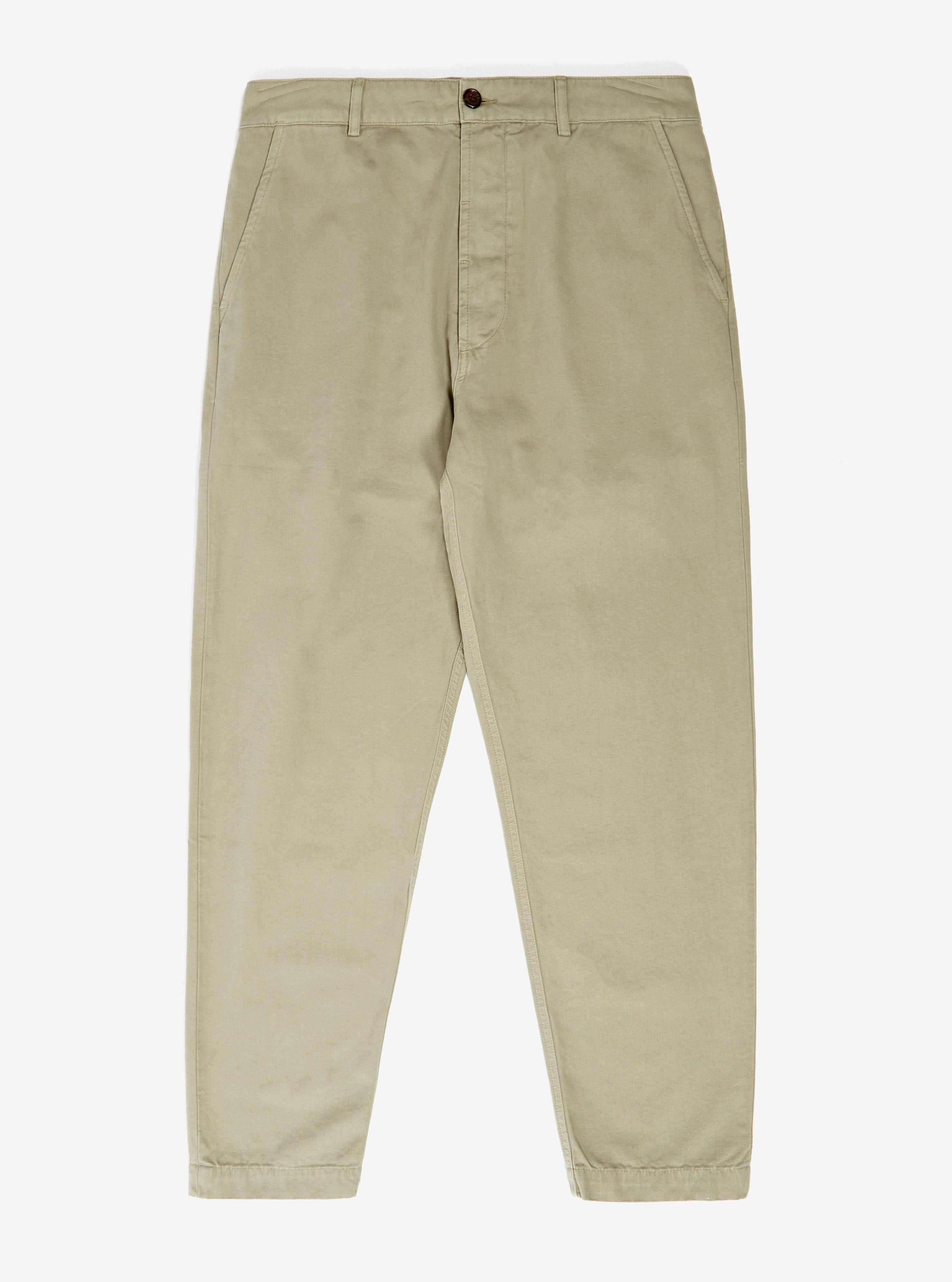 Universal Works Military Chino in Laurel Canvas