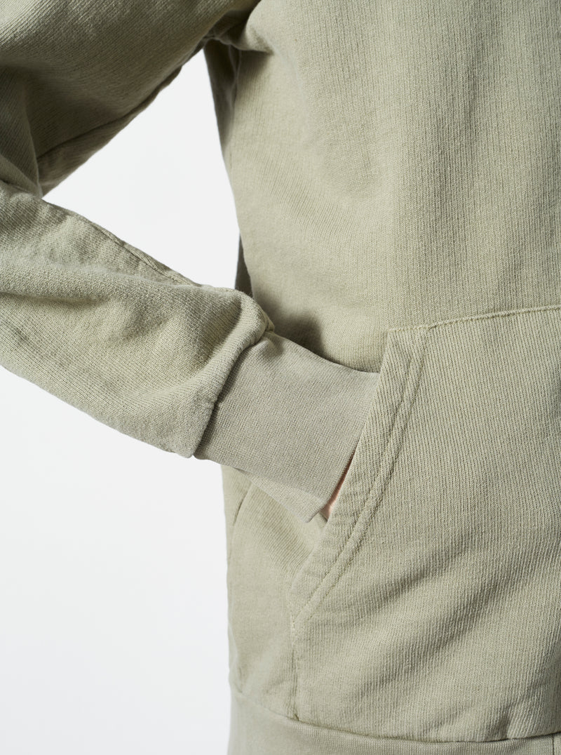 Universal Works Zip Through Sweat Jacket in Laurel Dry Handle Loopback