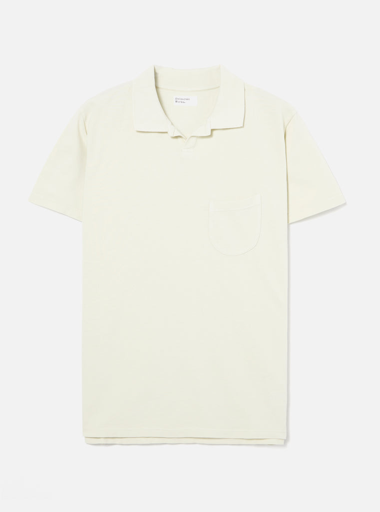 Universal Works Vacation Polo in Ecru Pique