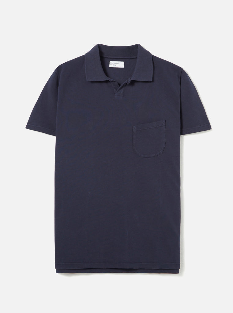 Universal Works Vacation Polo in Navy Pique