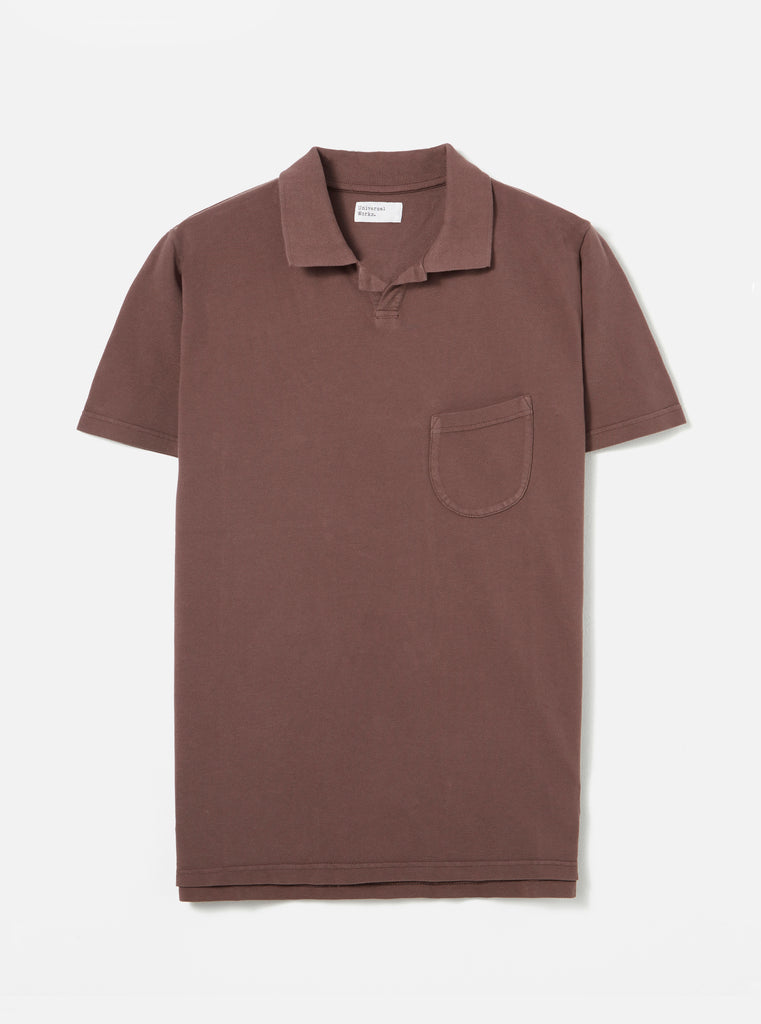 Universal Works Vacation Polo in Raisin Pique