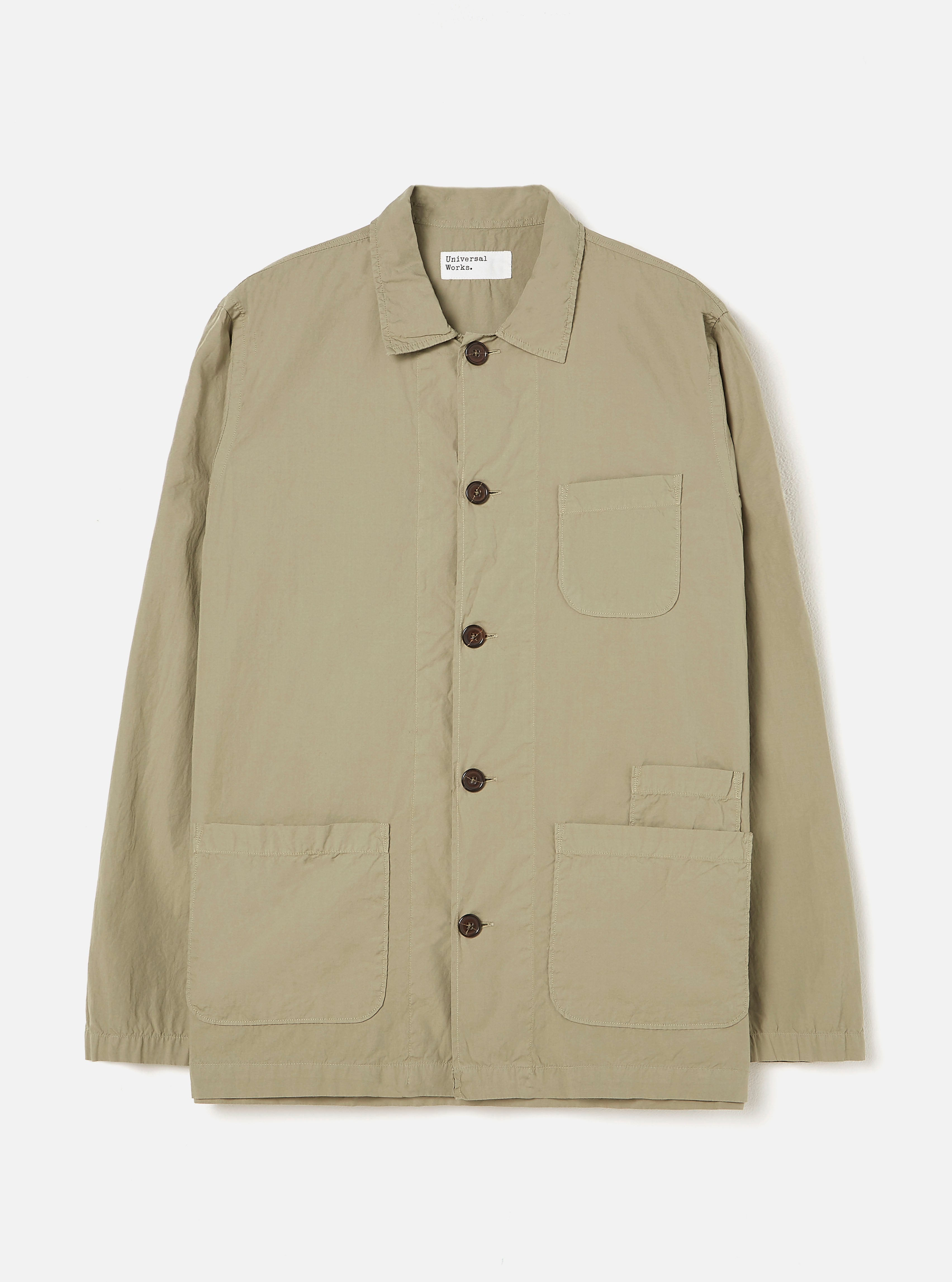 Universal Works Bakers Overshirt in Laurel Poplin
