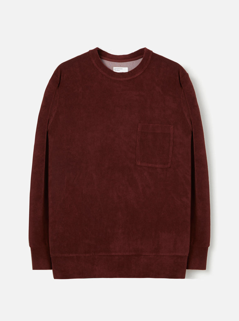 Universal Works Loose Pullover in Raisin Terry Fleece