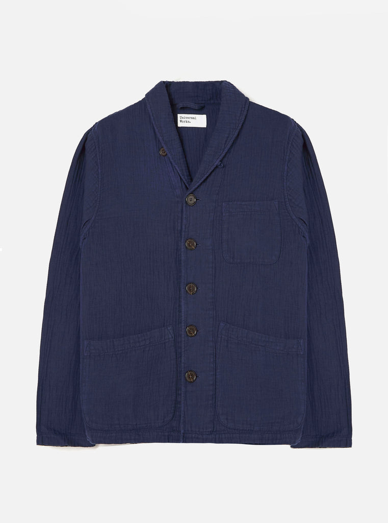 Universal Works Prairie Jacket in Navy Dual Lincot