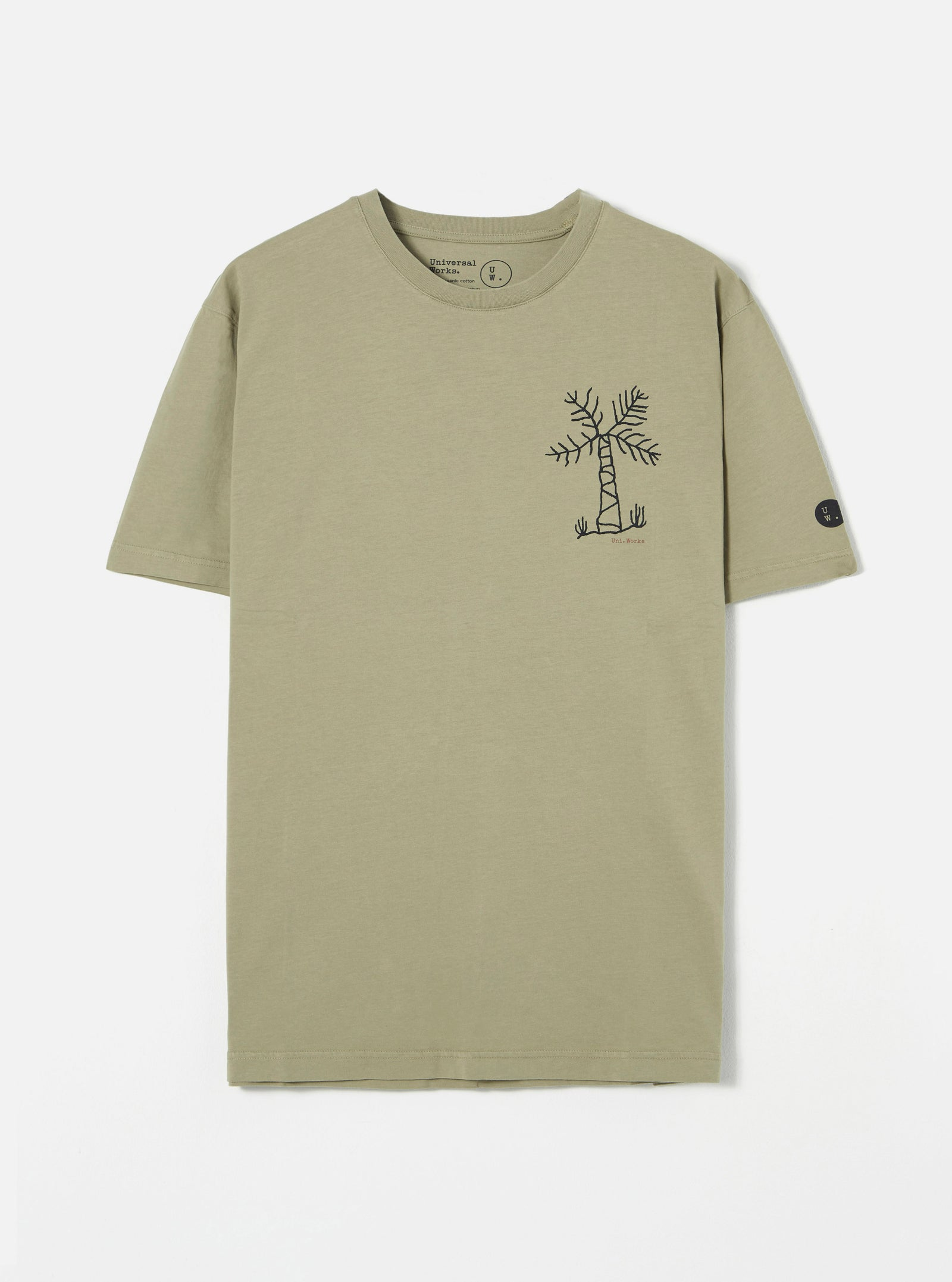 Universal Works Organic Standard Tee in Laurel Palm Print Jersey