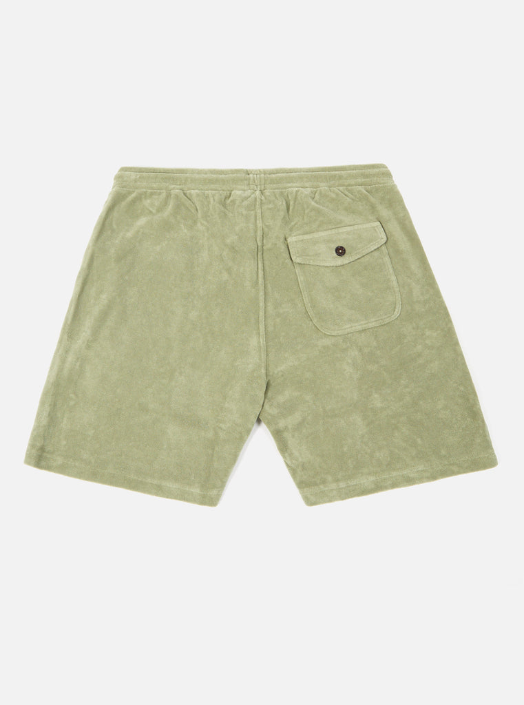 Universal Works Beach Short in Tea Terry Fleece