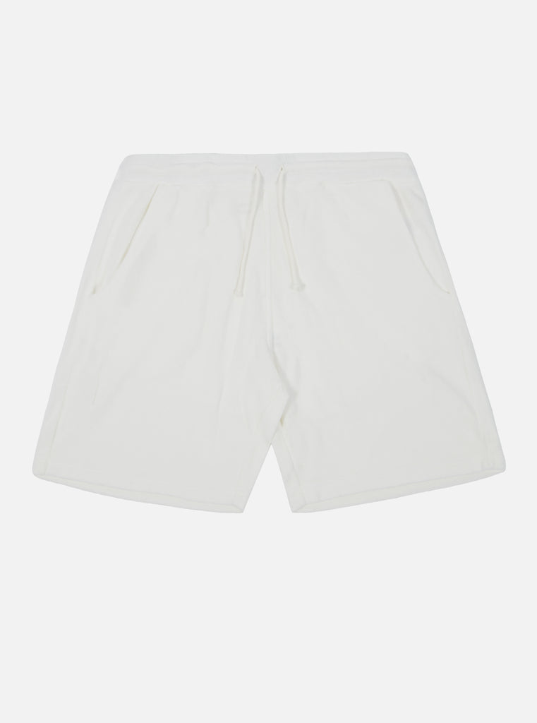 Universal Works Beach Short in Ecru Terry Fleece