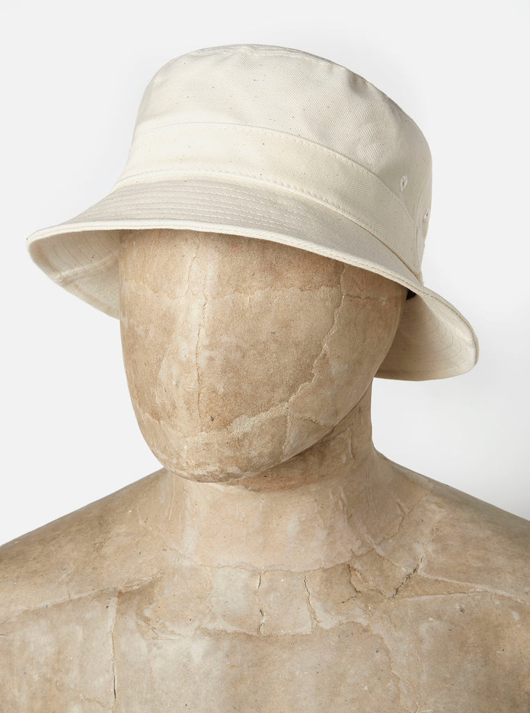 Universal Works Bucket Hat in Ecru Natural Twill