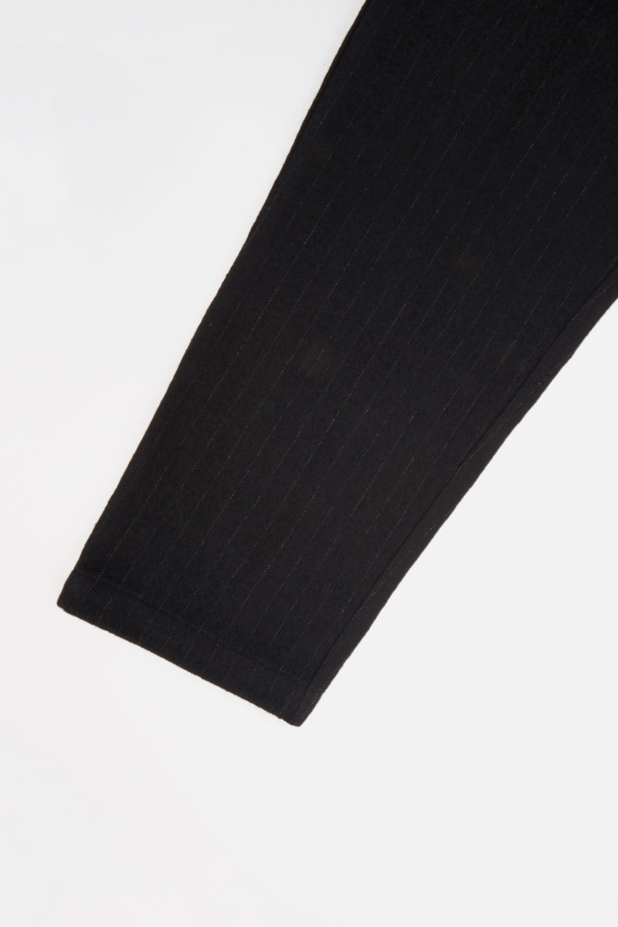 Universal Works Military Chino in Black Brushed Wool Stripe