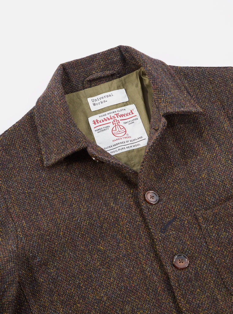 Universal Works Bakers Jacket in Olive Harris Tweed