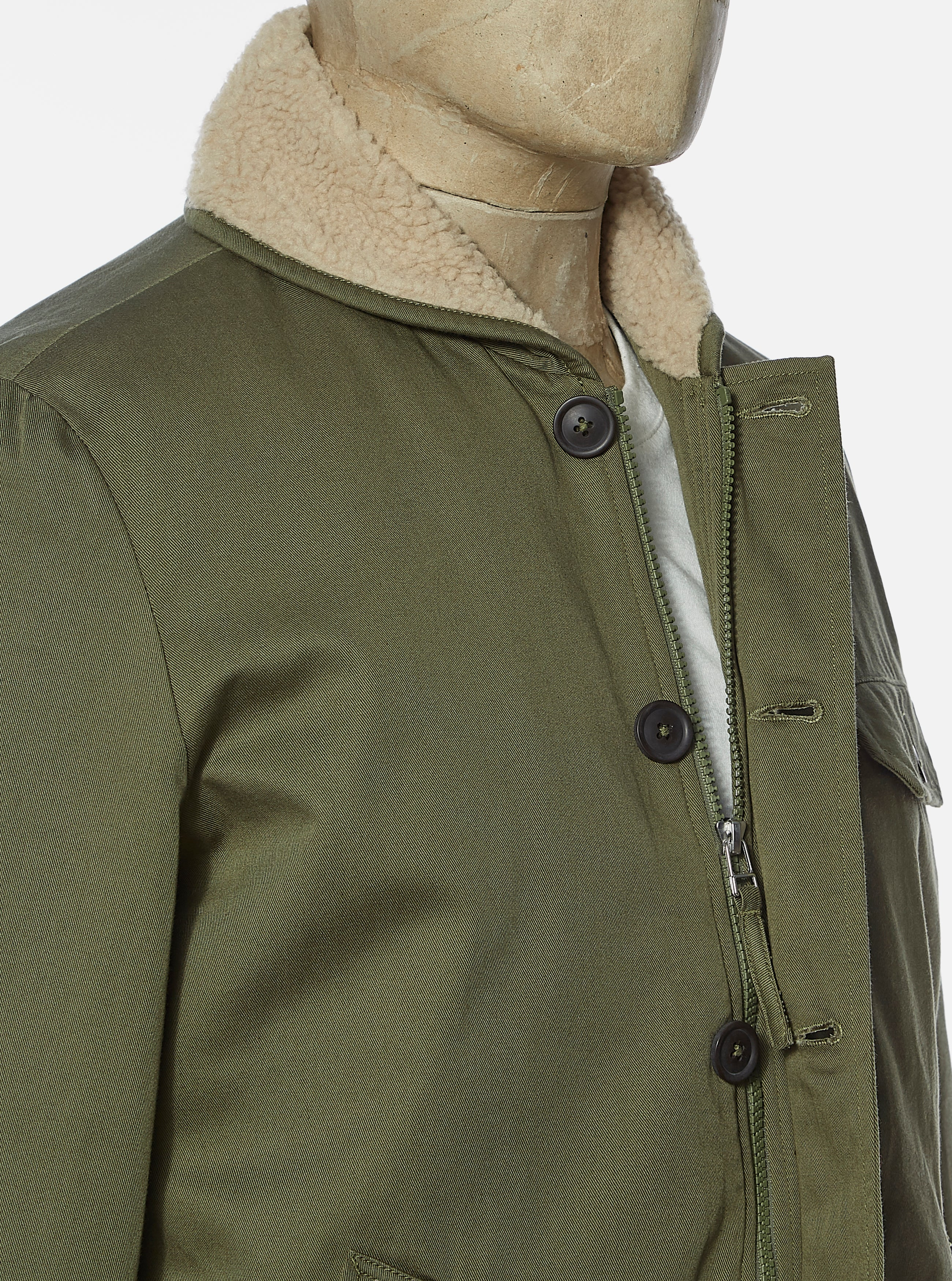 Universal Works N1 Jacket in Light Olive Twill