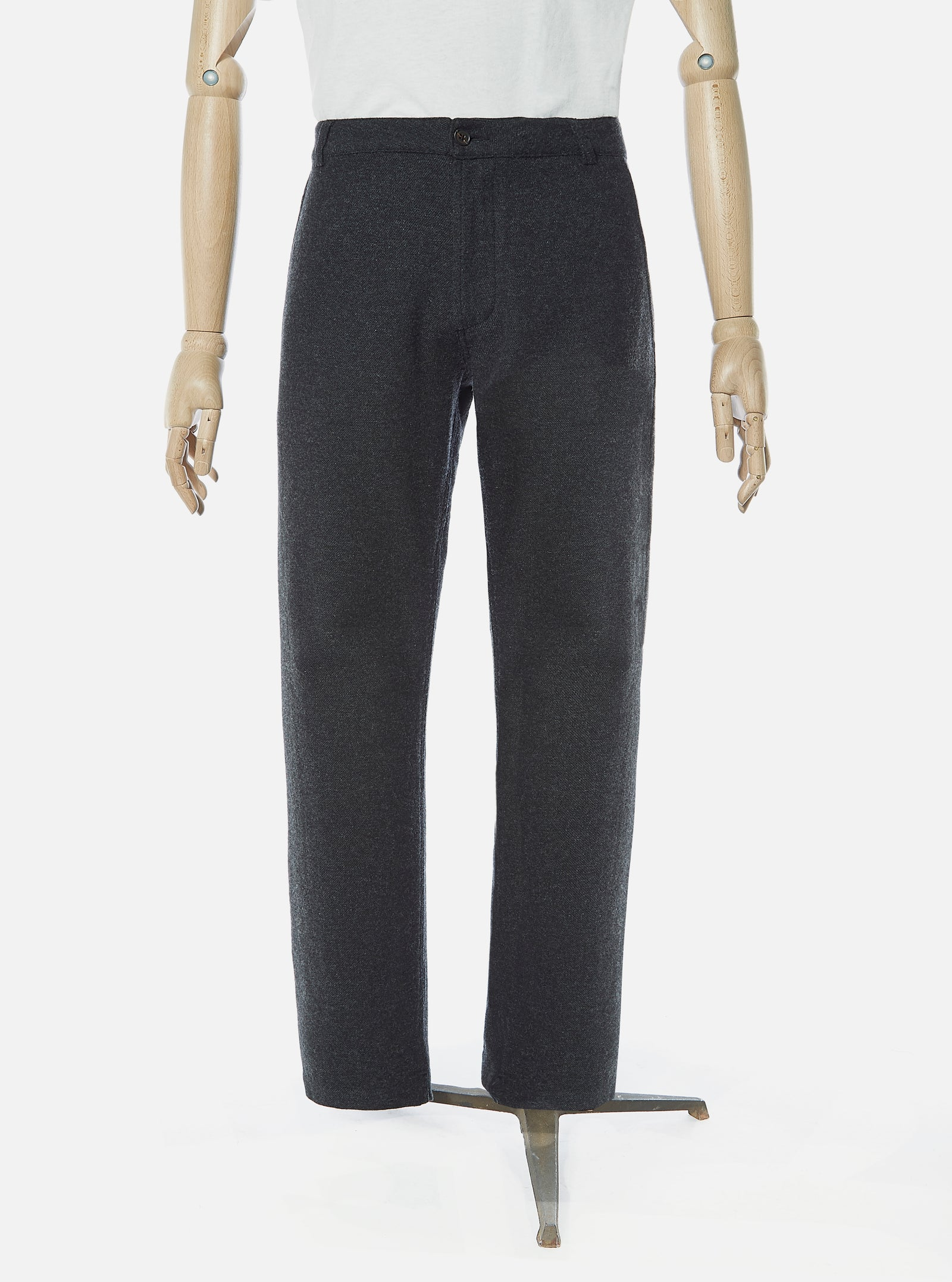 Universal Works Aston Pant in Charcoal Wool Marl II