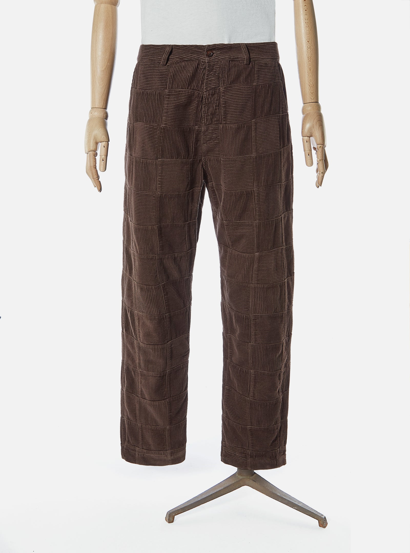 Universal Works Military Chino in Chocolate Patchwork Cord