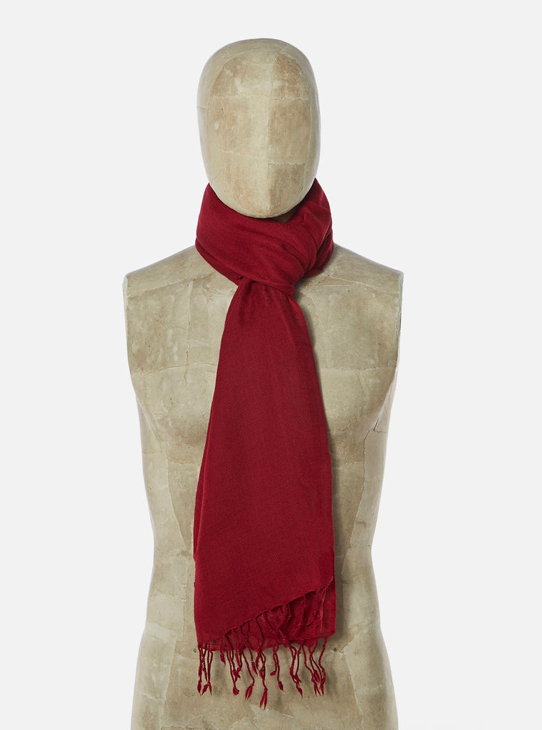 Universal Works Pashmina Scarf in Red Wool