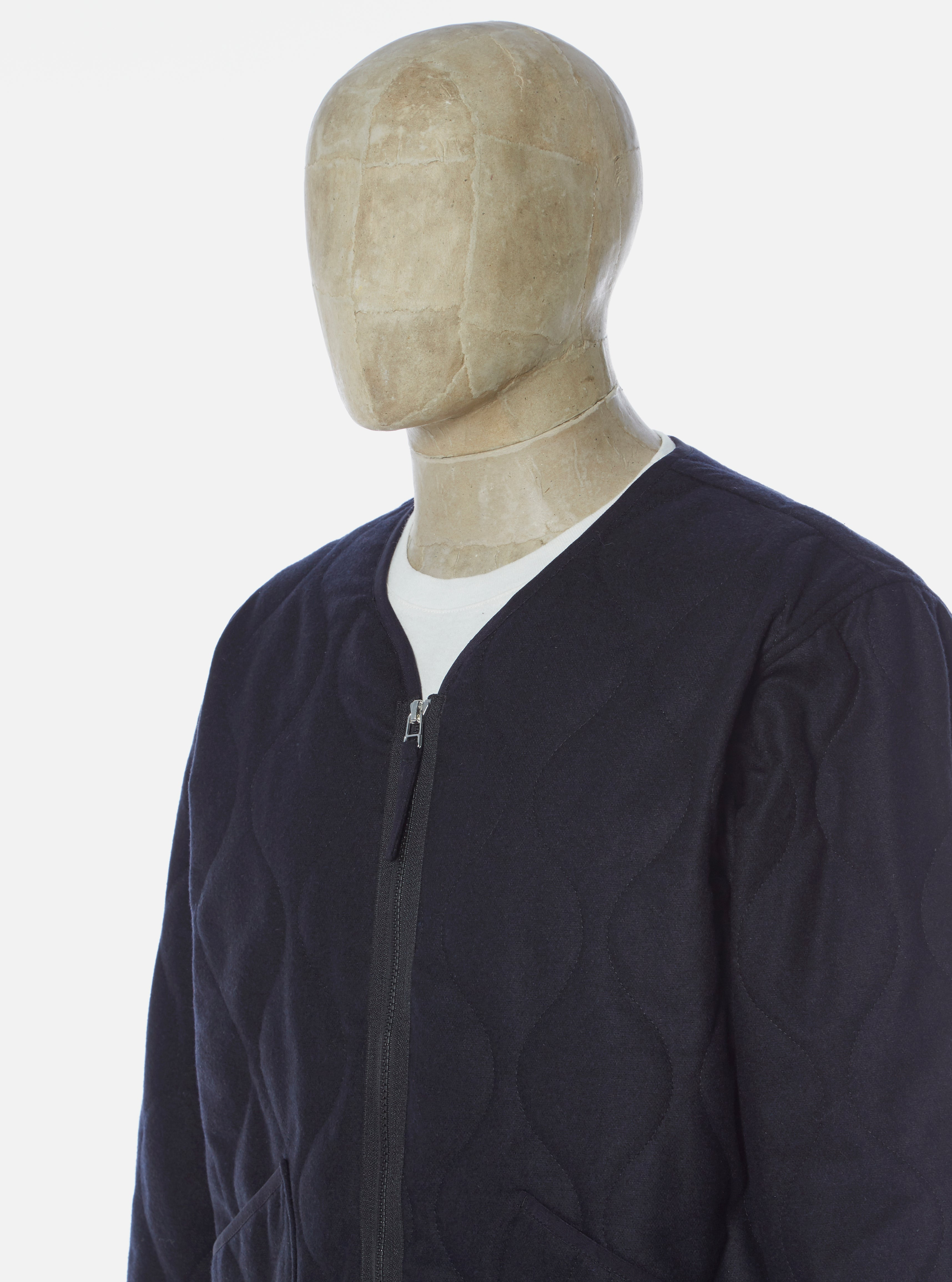 Universal Works Military Liner Jacket in Navy Amalfi