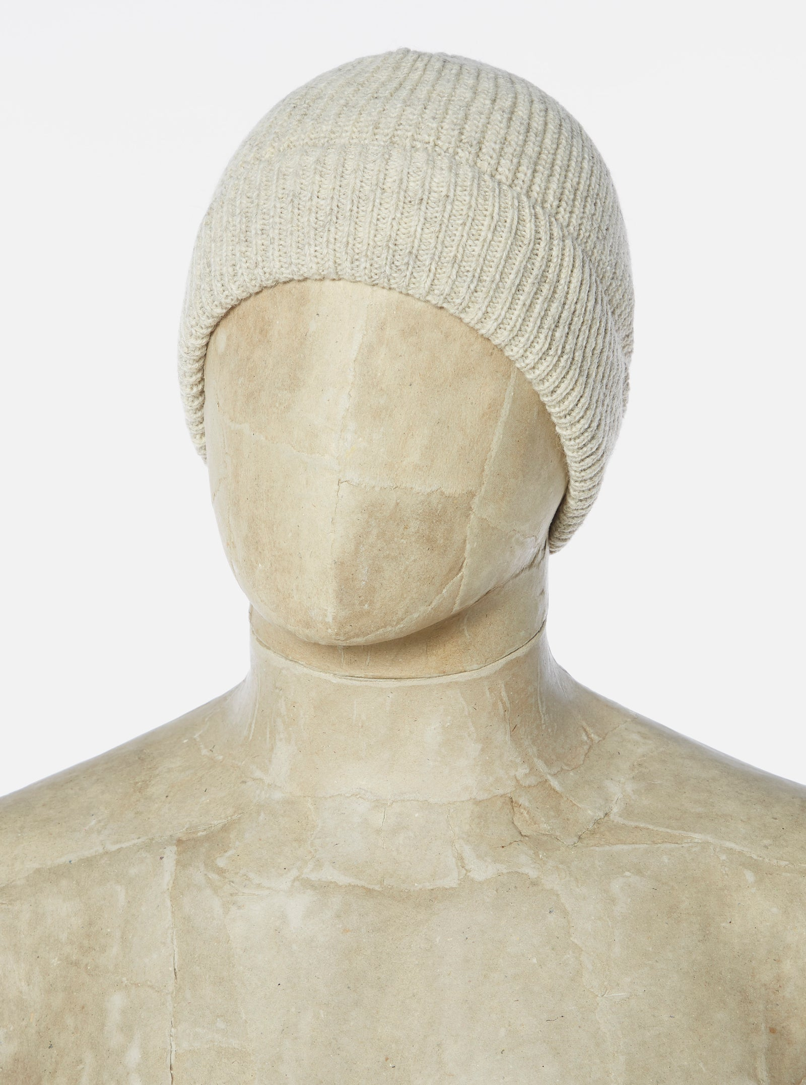 Universal Works Watch Cap in Natural Recycled Wool