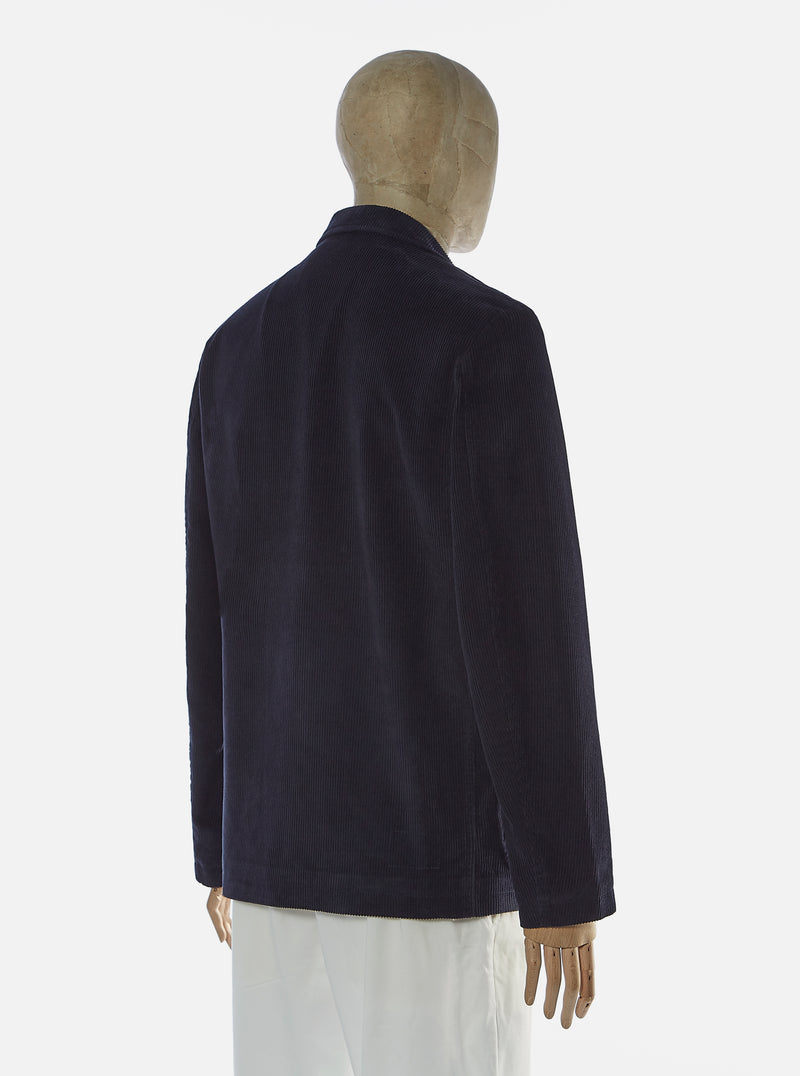 Universal Works Three Button Jacket in Navy Cord