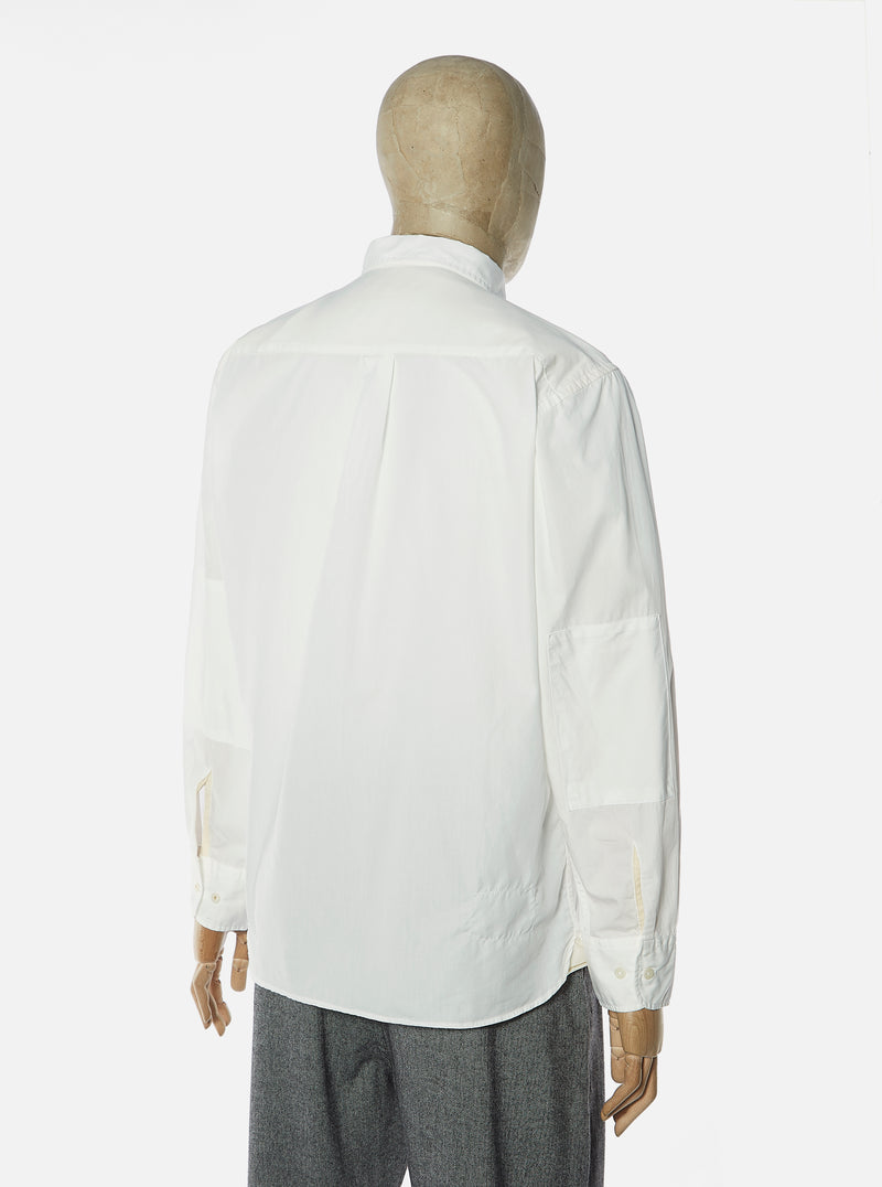 Universal Works New Standard Shirt in Ecru Poplin