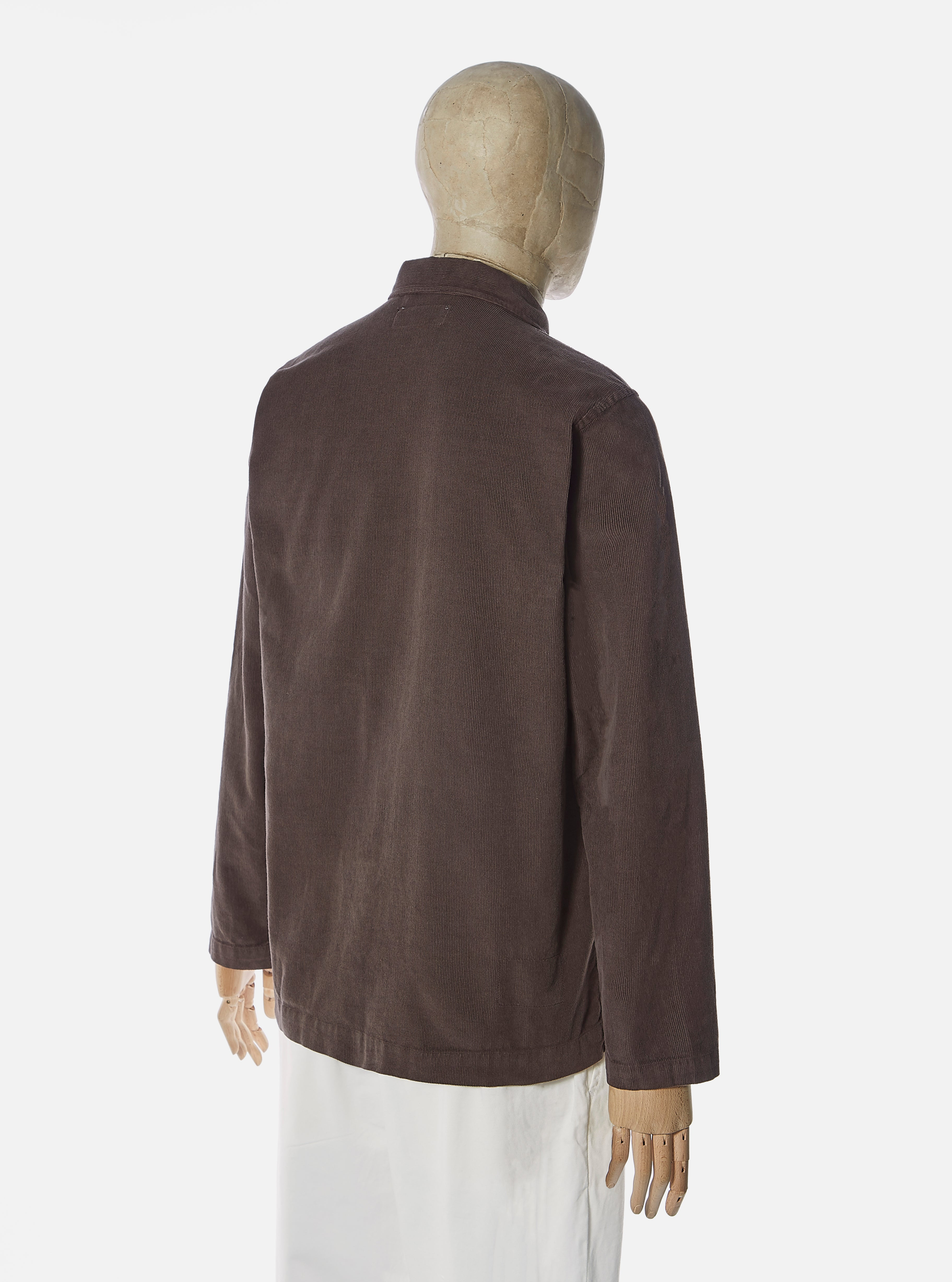Universal Works Bakers Overshirt in Chocolate Fine Cord
