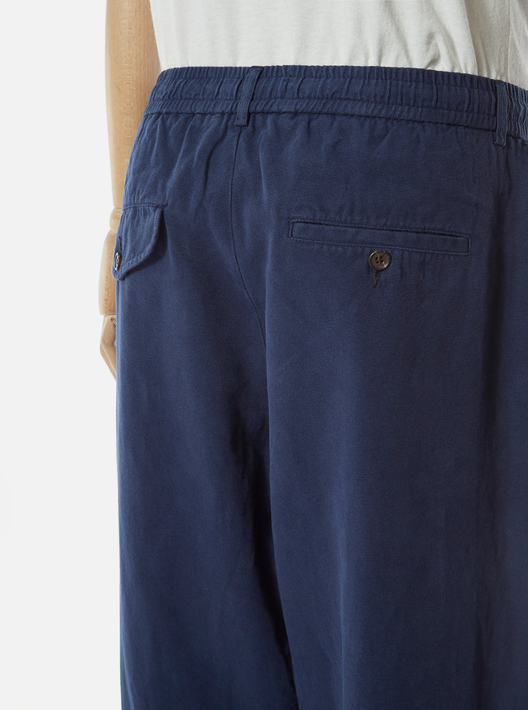 Universal Works Pleated Track Pant in Navy Canvas