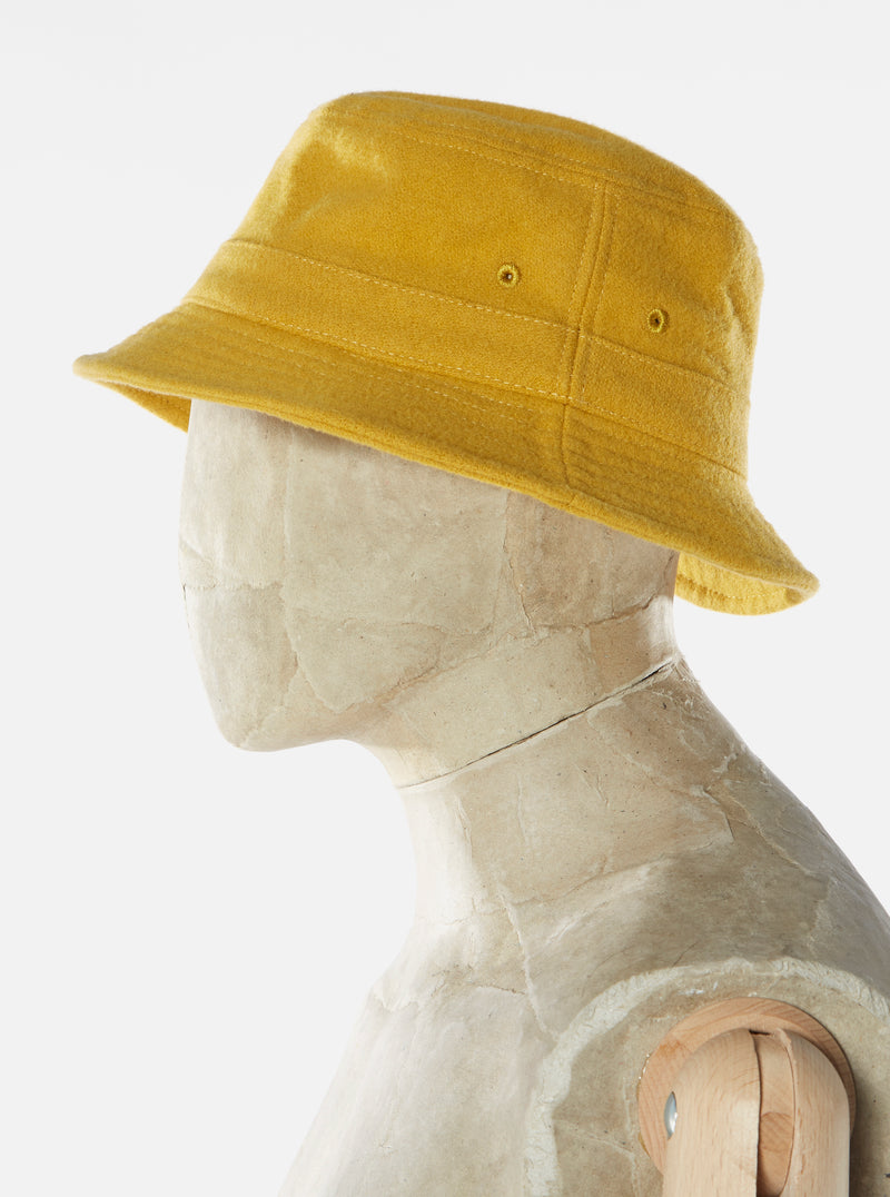 Universal Works Bucket Hat in Yellow Melton