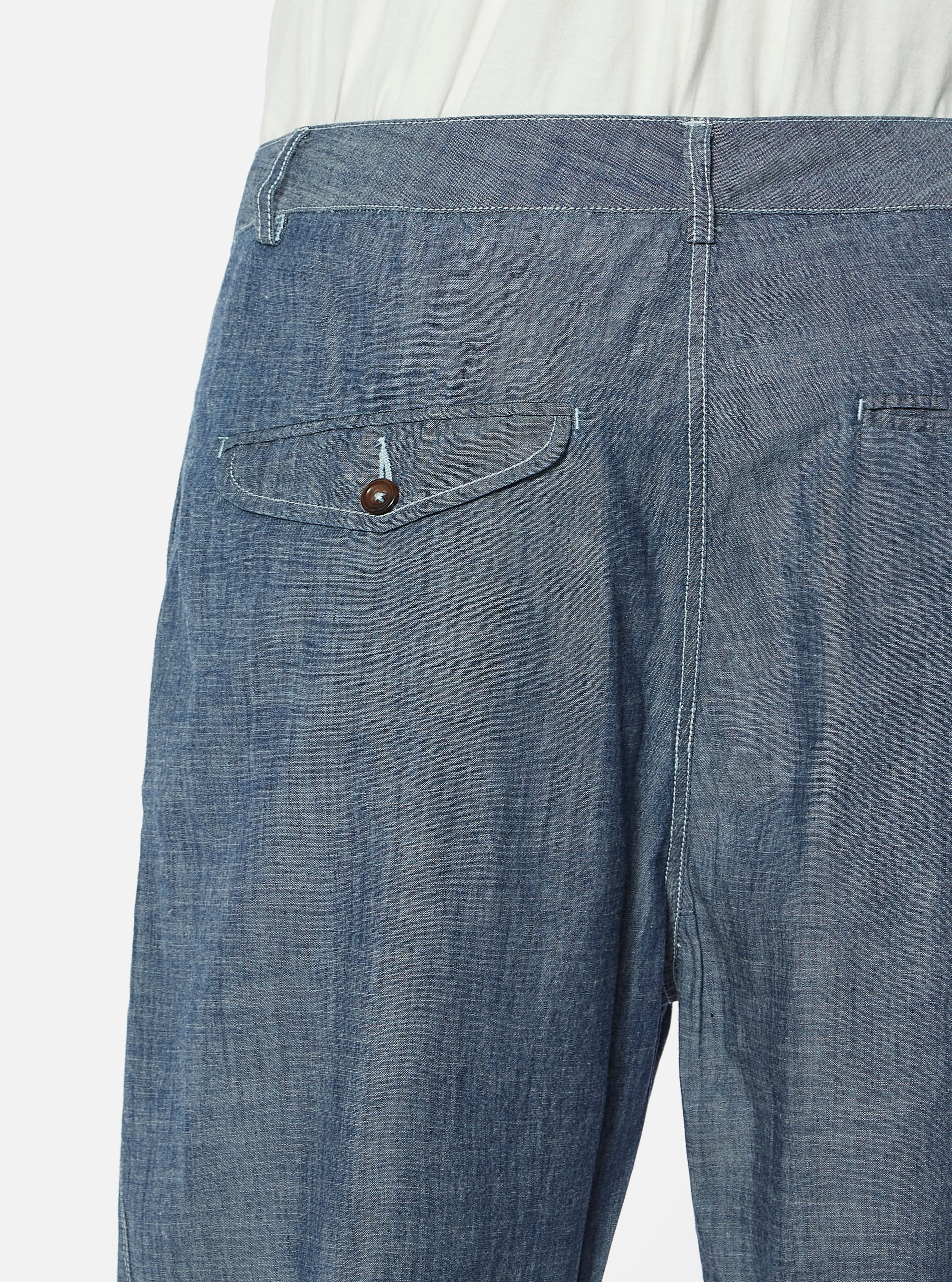 Universal Works Bakers Pant in Indigo Chambray