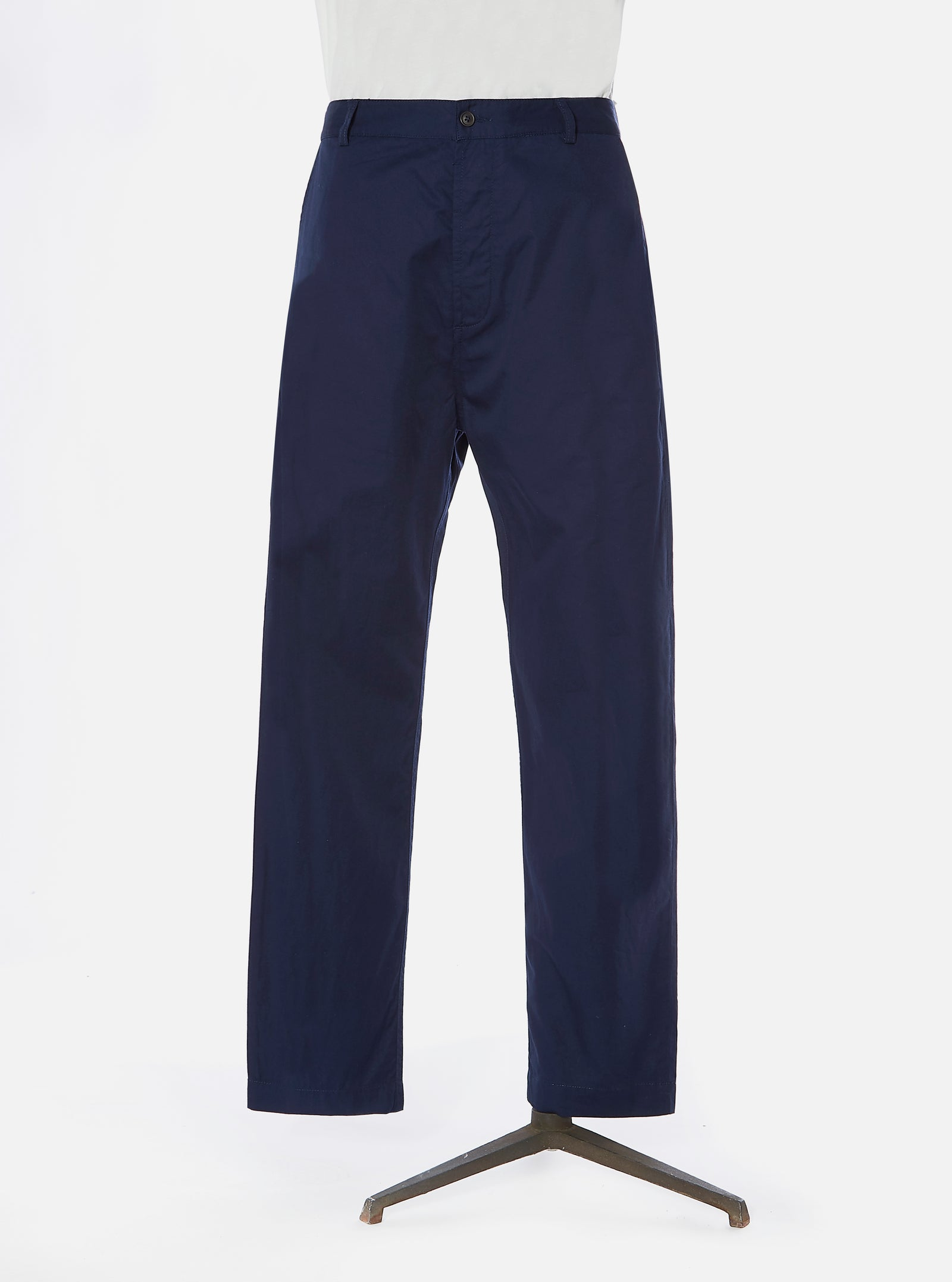 Universal Works Military Chino in Navy Fine Twill