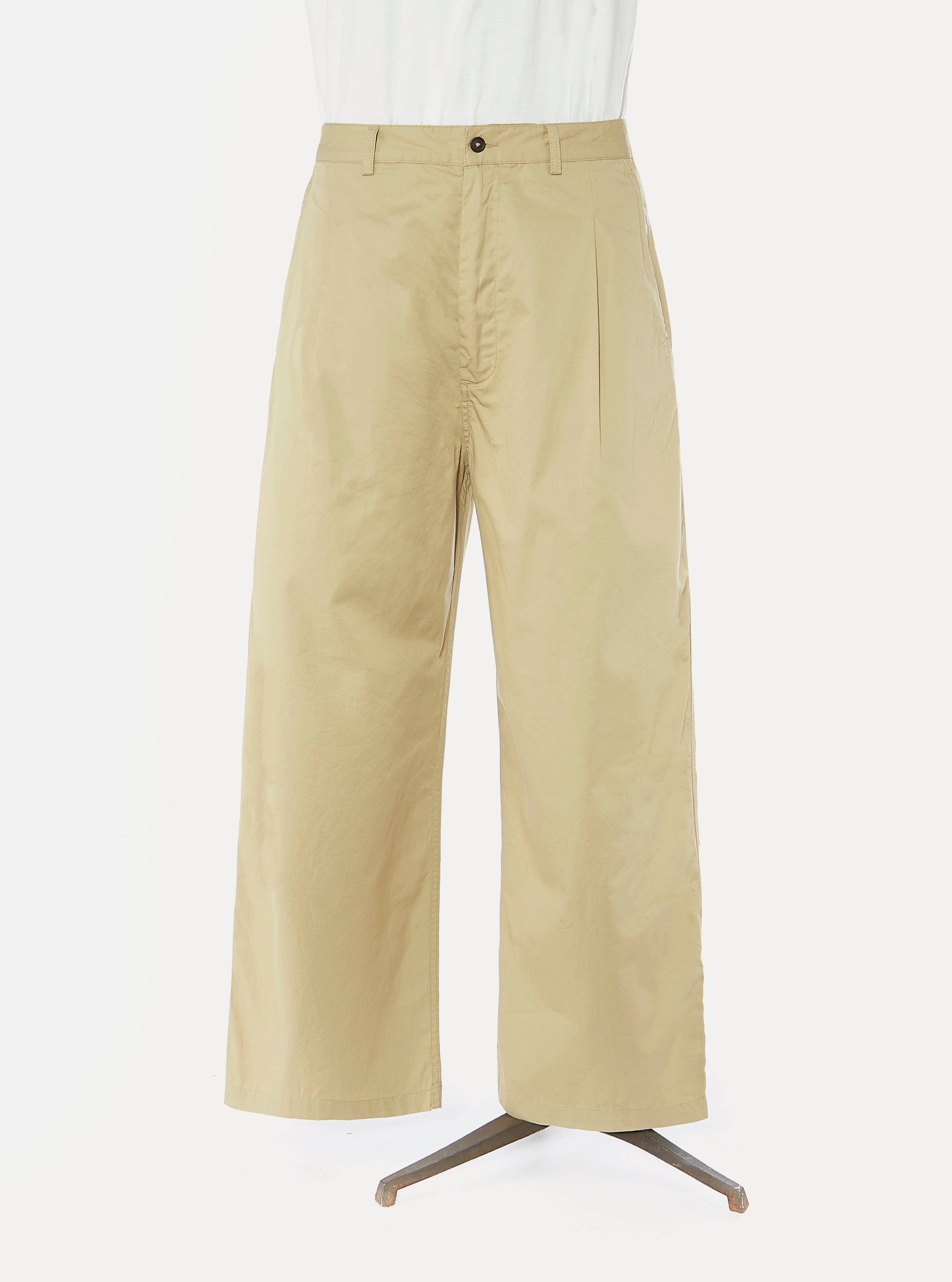 Universal Works Sailor Pant in Tan Fine Twill