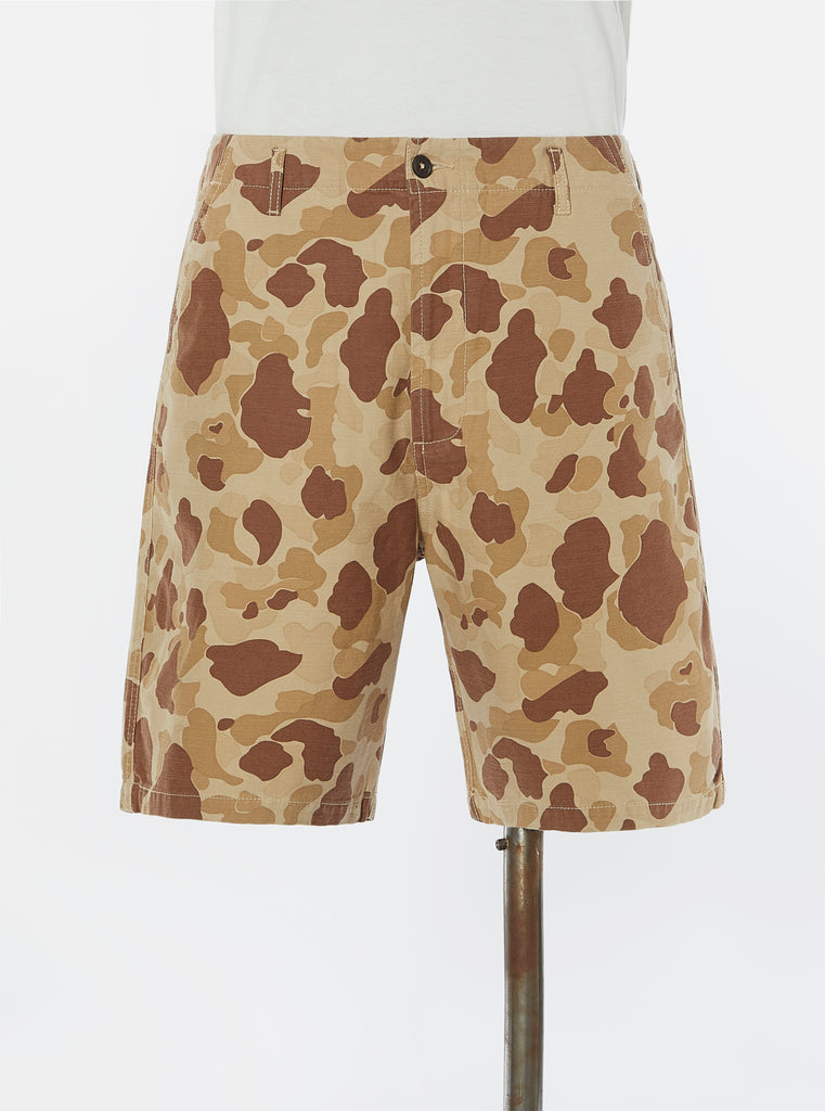 Universal Works Loose Short in Sand Peacekeeper Camo