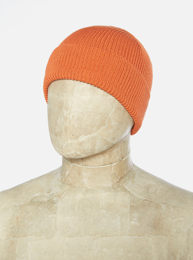 Universal Works Watch Cap in Orange Cotton