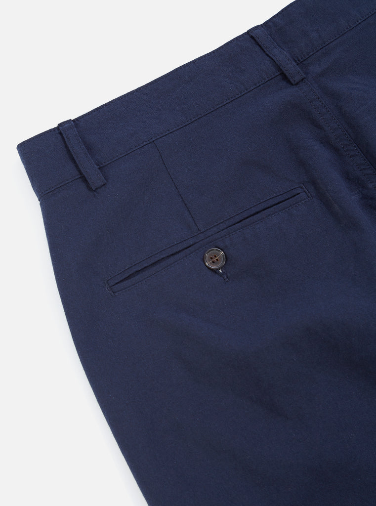 Universal Works Military Chino in Navy Cotton Suiting II
