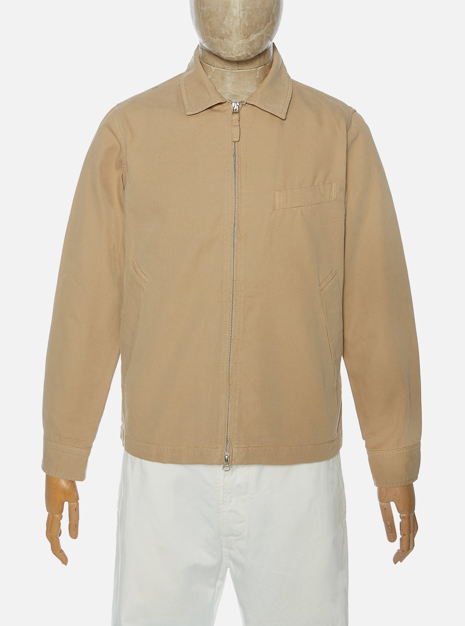 Universal Works Windcheater II Jacket in Sand Canvas