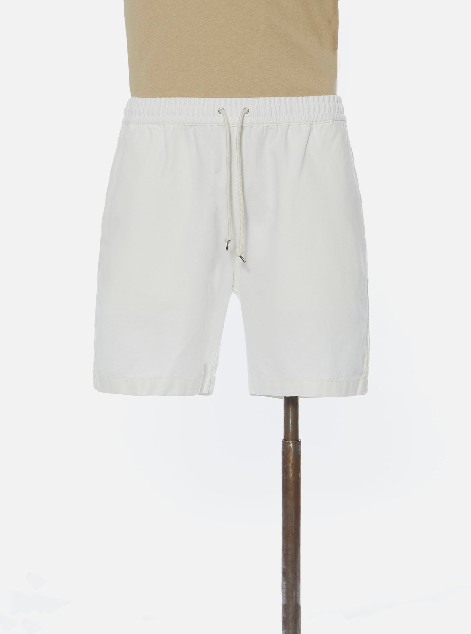 Universal Works Beach Short in Ecru Canvas