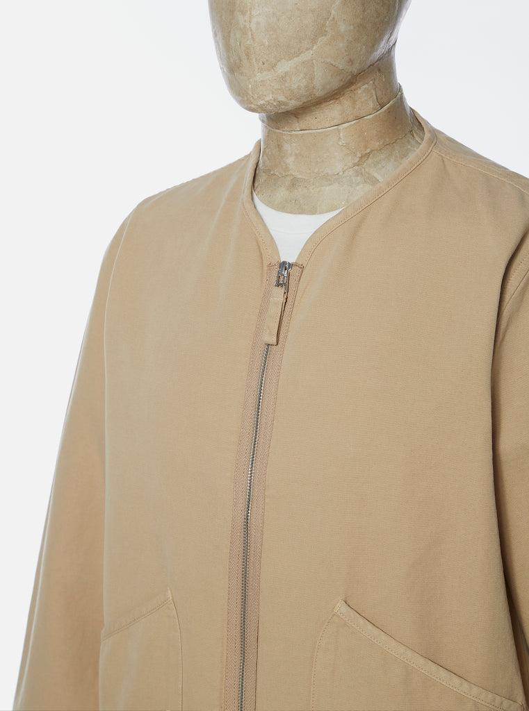 Universal Works Military Liner Jacket in Sand Canvas